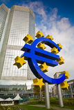 Giant euro sign located in Frankfurt am Main Royalty Free Stock Images