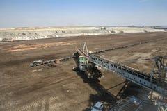 Giant excavator in a coal mine Stock Image