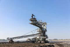 Giant excavator in a coal mine Royalty Free Stock Photography