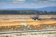 Giant excavator digging Royalty Free Stock Photos