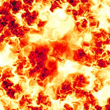 Giant explosion. Closeup view of powerful explosion Stock Images