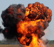 Giant explosion Stock Image
