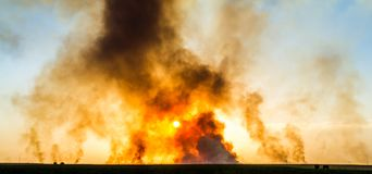 Giant explosion Royalty Free Stock Image