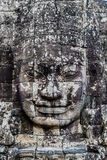 Giant face prasat bayon temple angkor thom cambodia Stock Photo