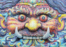 Giant face Stock Photo