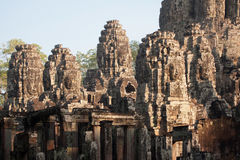 Giant faces at Bayon Temple, Angkor Wat, Cambodia Royalty Free Stock Image