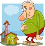 Giant fantasy character cartoon Stock Photography