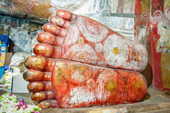 The giant feet of the Buddha Stock Photography