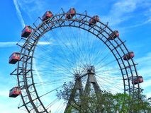 Giant ferris weel. The famous Giant Ferris Wheel in Prater, Vienna , Austria Stock Photos