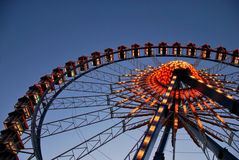 Giant Ferris Wheel. Shot of a Ferris giant wheel in an amusement park in Berlin Royalty Free Stock Photos