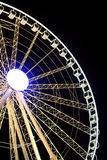 Giant Ferris Wheel. Image of a giant ferris wheel isolated by black background stock photos