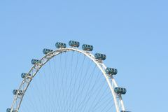 Giant Ferris wheel. Singapore flyer stock image