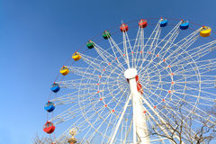 Giant ferris wheel against blue sky Royalty Free Stock Photography