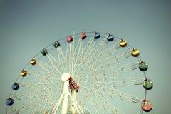 Giant ferris wheel against blue sky Royalty Free Stock Image