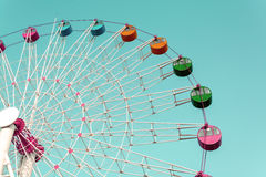 Giant ferris wheel against blue sky Royalty Free Stock Photos