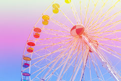 Giant ferris wheel in Amusement park with blue sky background Royalty Free Stock Image