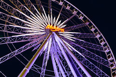 A giant Ferris wheel at Asiatique. Asiatique The Riverfront is a Bangkok's first large-scale riverside community mall combining shopping, dining, sightseeing Royalty Free Stock Photos