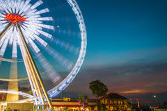 A giant ferris wheel at Asiatique the riverfront Royalty Free Stock Images