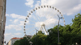 Giant ferris wheel in Budapest Royalty Free Stock Image