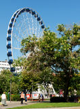 Giant ferris wheel in Budapest Stock Photo