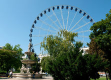 Giant ferris wheel in Budapest Stock Images