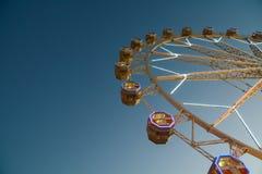 Giant Ferris Wheel In Fun Park On Night Sky Stock Photos