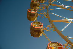 Giant Ferris Wheel In Fun Park On Night Sky Stock Photo