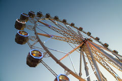 Giant Ferris Wheel In Fun Park On Night Sky Royalty Free Stock Photo
