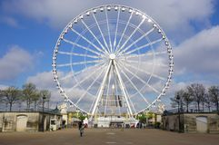The giant Ferris Wheel (Grande Roue) in Paris Stock Images