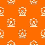 Giant ferris wheel pattern seamless. Giant ferris wheel pattern repeat seamless in orange color for any design. Vector geometric illustration Stock Photo