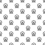 Giant ferris wheel pattern vector. Giant ferris wheel pattern seamless in simple style vector illustration Royalty Free Stock Photos