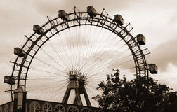 Giant Ferris Wheel at Prater in Vienna Stock Images