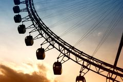Giant Ferris Wheel at sunset Royalty Free Stock Photo