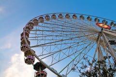 Giant ferry wheel at Prater park, Vienna. Giant ferry wheel at Prater - famous amusement park in Vienna Stock Photos