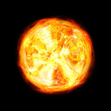 Giant fireball. Giant ball of fire isolated on black background Stock Images