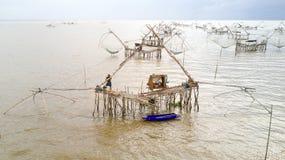 Giant fishing nets Stock Photo