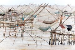 Giant fishing nets Royalty Free Stock Photos