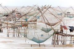 Giant fishing nets Royalty Free Stock Image
