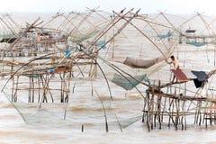 Giant fishing nets Royalty Free Stock Photo