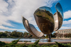 Giant flower (Floralis Generica) in Buenos Aires, Argentina Royalty Free Stock Image