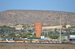A Giant Flower Pot Behind Alicante Airport Royalty Free Stock Photo