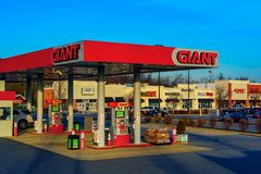 Free Giant Food Gas Pumps Stock Photos - 168050593