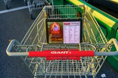 Free Giant Food Store Grocery Cart Royalty Free Stock Image - 168050356