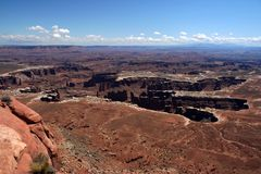 Giant Footprint. Grand Point Overview, Canyonlands national Park, utah Stock Photo