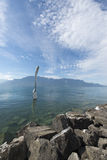 The giant fork, Vevey stock image