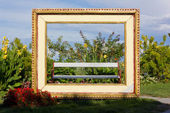 Giant Frame for Living Painting Royalty Free Stock Image