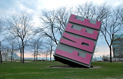 Giant free stamp. Image of a giant free stamp in Downtowm Cleveland Ohio royalty free stock photos