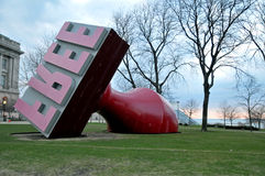 Giant free stamp. Image of a giant free stamp in Downtowm Cleveland Ohio Royalty Free Stock Image