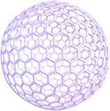 Giant fullerene molecule C720 isolated on white stock illustration