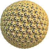 Giant fullerene molecule C720 on white Royalty Free Stock Images